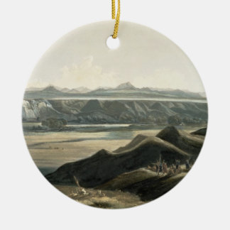View of the Rocky Mountains, plate 44 from Volume Christmas Ornament