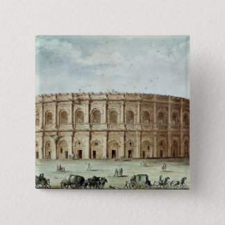 View of the Roman Amphitheatre 15 Cm Square Badge