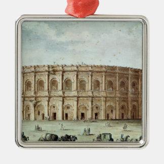 View of the Roman Amphitheatre Silver-Colored Square Decoration