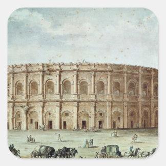 View of the Roman Amphitheatre Square Sticker