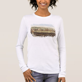 View of the Roman Amphitheatre, Verona, engraved b Long Sleeve T-Shirt