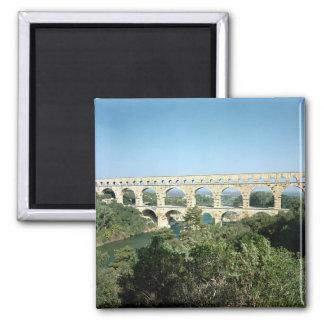 View of the Roman aqueduct, built c.19 BC Square Magnet