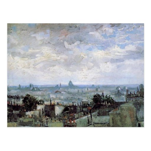 View of the Roofs of Paris, Vincent van Gogh Postcard