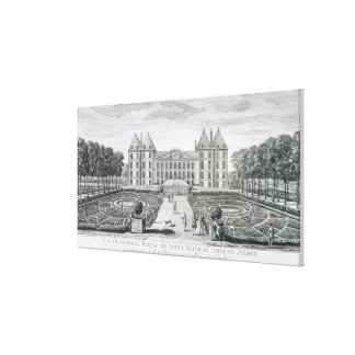 View of the Royal Chateau of Saint Maur from the g Canvas Print