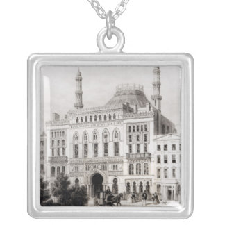 View of the Royal Panopticon of Science and Silver Plated Necklace