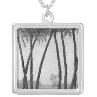 View of the ruins Memphis seen from south east Silver Plated Necklace