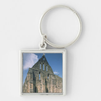 View of the ruins Silver-Colored square key ring
