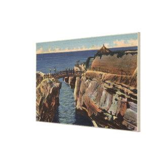 View of the Rustic Bridge & Sunset Cliffs Canvas Print