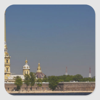 View of the Saints Peter and Paul Cathedral 2 Square Sticker