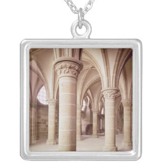 View of the Salle des Chevaliers Silver Plated Necklace