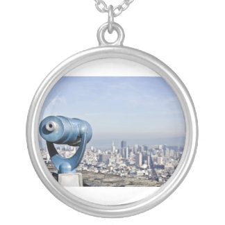 View of the San Francisco City Blurred Personalized Necklace