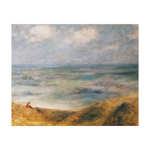 View of the Sea, Guernsey Gallery Wrapped Canvas