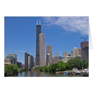 View of the Sears Tower from the Chicago River Note Card