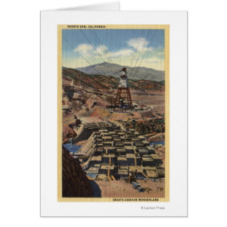 View of the Shasta Dam Greeting Cards