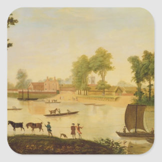 View of the Shepperton on the River Thames, after Stickers