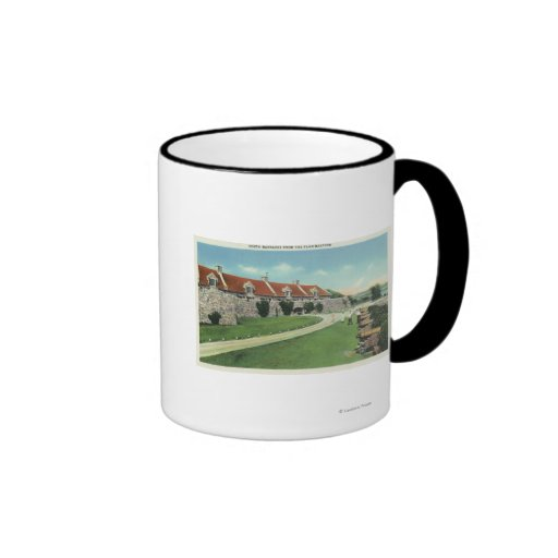 View of the South Barracks from the Flag Coffee Mugs
