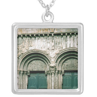 View of the south transept portal  c.1100-04 silver plated necklace