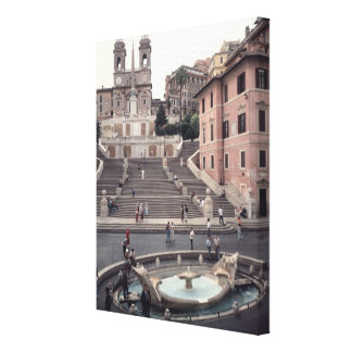 View of the Spanish Steps or Scalinata Canvas Print