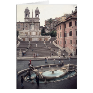 View of the Spanish Steps or Scalinata Card