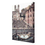 View of the Spanish Steps or Scalinata Gallery Wrapped Canvas
