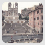 View of the Spanish Steps or Scalinata Square Sticker