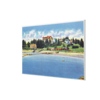 View of the Squirrel Inn on Squirrel Island Canvas Print