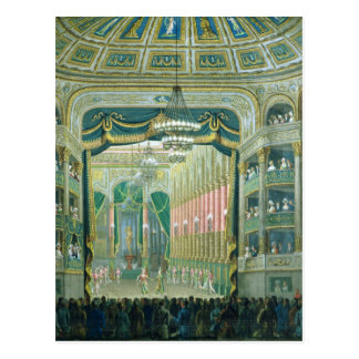 View of the Stage of the Paris Opera Postcard