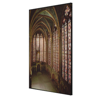 View of the stained glass windows canvas print