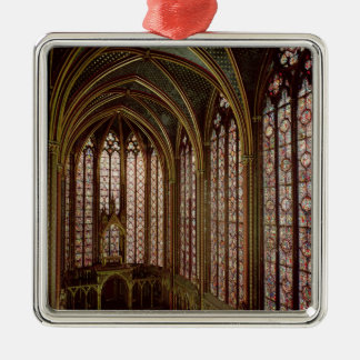 View of the stained glass windows christmas ornament