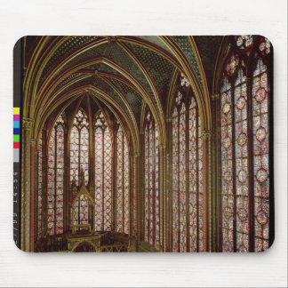 View of the stained glass windows mouse mat
