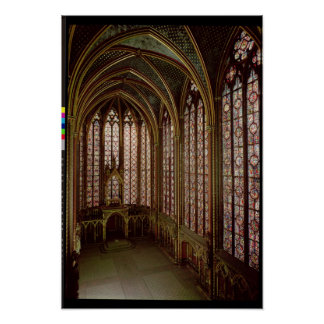 View of the stained glass windows poster