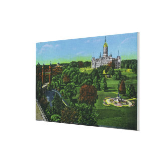 View of the State Capitol Grounds, Memorial Arch Canvas Print