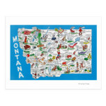 View of the State with Cartoons, Scenic Spots Postcard