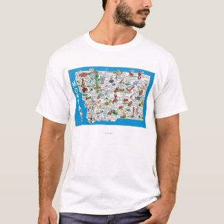 View of the State with Cartoons, Scenic Spots T-Shirt