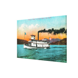 View of the Steamer Flyer on the Lake Canvas Print