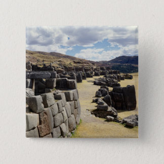 View of the stone walls 15 cm square badge