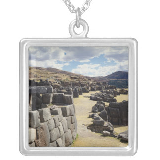 View of the stone walls silver plated necklace