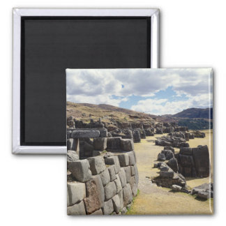 View of the stone walls square magnet