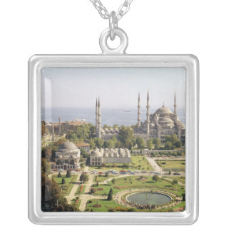 View of the Sultan Ahmet Camii  built 1609-16 Custom Necklace