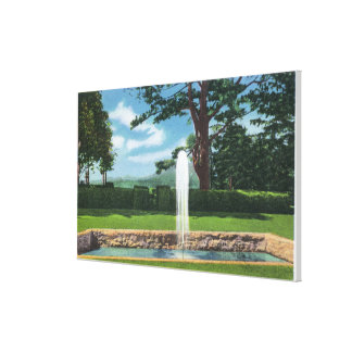 View of the Tanglewood Gardens and Fountain Stretched Canvas Prints