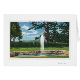 View of the Tanglewood Gardens and Fountain Greeting Card
