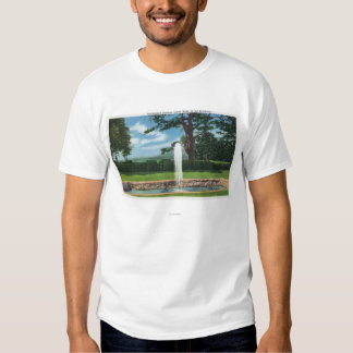 View of the Tanglewood Gardens and Fountain T Shirts
