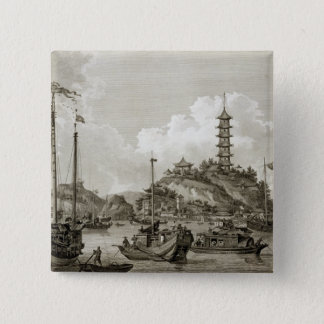 View of the Tchin Shan, or Golden Island, in the Y 15 Cm Square Badge