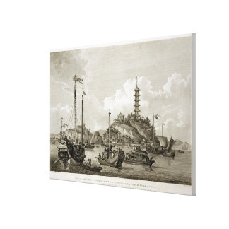 View of the Tchin Shan, or Golden Island, in the Y Canvas Print