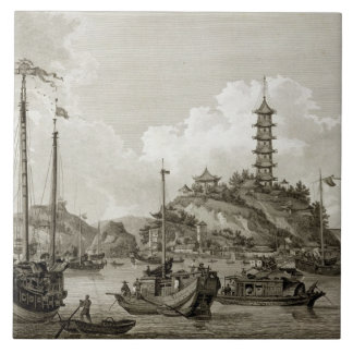 View of the Tchin Shan, or Golden Island, in the Y Large Square Tile