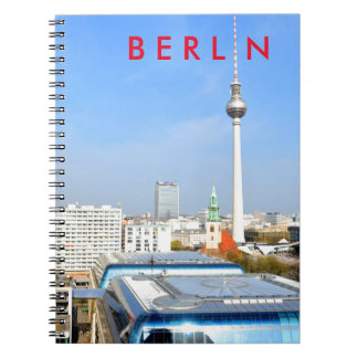 View of the Television Tower in Berlin, Germany Notebook