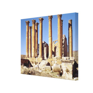 View of the Temple of Artemis, built c.386 AD Canvas Print