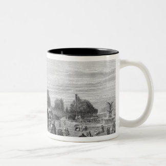 View of the Terrace, Central Park, 1872 Two-Tone Coffee Mug