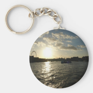 View of the Thames at sunset Key Chain