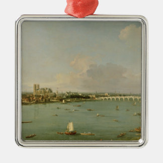 View of the Thames from South of the River Christmas Ornament